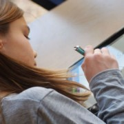 Children learning on iPads Pic: Brad Flickinger