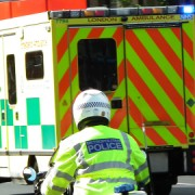 London Police and Ambulance respond to an incident. Pic: Kenjonbro
