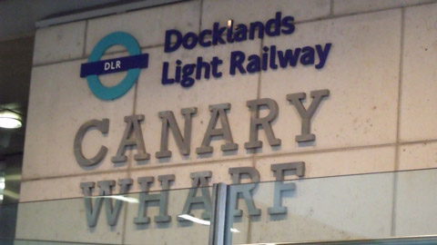 DLR entrance in Canary Wharf. Pic: Elliott Brown