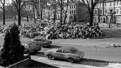 Stoke Newington binmen's strike, 1979 Pic: Alan Denney