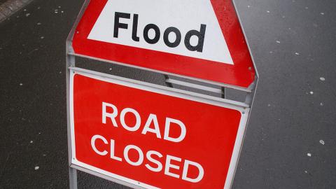 Flooding in Croydon. Pic: Freefotouk
