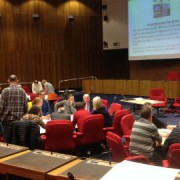 Lewisham cyclists discuss proposals with local election candidates Pic: Radu Istrate