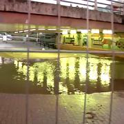 Flooded Purley Cross Underpass. Pic: Rowen De Souza