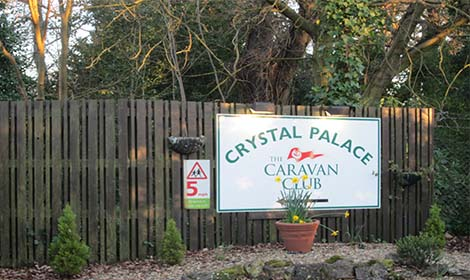 Crystal Palace Caravan Site entrance pic: Chiara Rimella