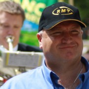 Bob Crow, leader of the RMT Union. Pic: Andrew Skudder