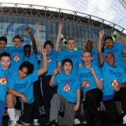 Winners: Hackney team at the Panathlon football tournament