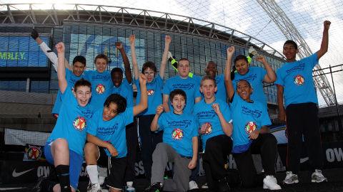 Winners: Hackney team at the Panathlon football tournament