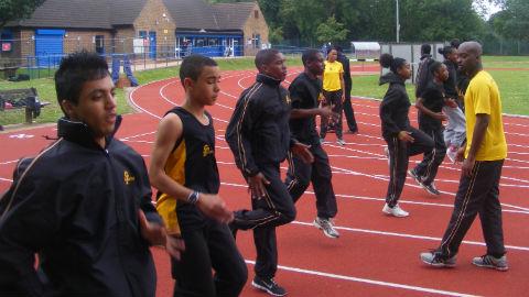 S-Factor Academy athletes training Photo: Ray Miller-Davis