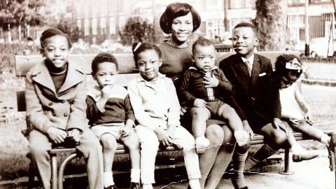 Priscilla Dujon with her children in Bethnal Green, 1968. Pic: Priscilla Dujon
