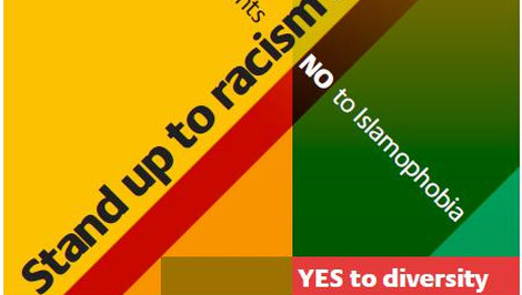 """Lewisham is saying """"Yes"""" to diversity. Pic: Stand Up to Racism and Fascism"""