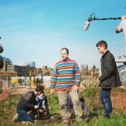 The team filming on set. Pic: Turf Projects
