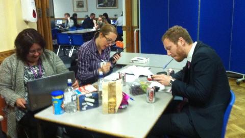 Croydon Council media team hard at work