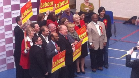 Labour Party celebrating their victory