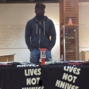 Kenneth Owusu works for the charity called Lives Not Knives. Pic: Qianru Wu and Laerke Nielsen