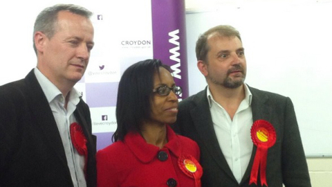 Sean Fitzsimons, Patricia Hay-Justice & Mark Watson take all three seats in Addiscombe. Pic: Laerke Nilsen