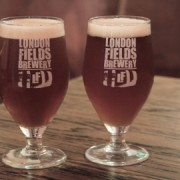 Glasses Of London Fields Brew