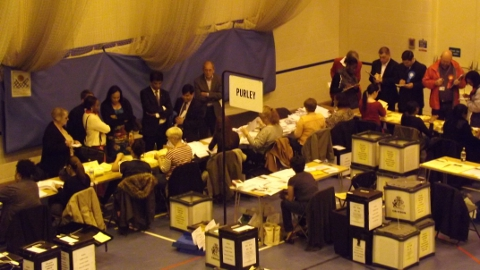 Purley Ward Election Count  Photo: Sheila Smith