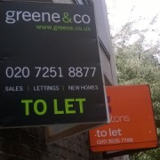 Estate Agent Signs in Tower Hamlets: Claire Crofton