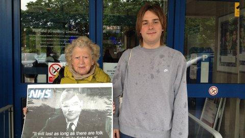 Members from the anti- NHS campaign. Pic: Qianru Wu and Laerke Nielsen