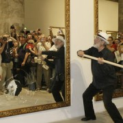 Michelangelo Pistoletto closes LCMF with a ten mirror installation. Photo: LCMF.co.uk