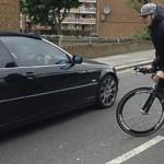 Ashley Moore rides one of the stolen bikes Pic: Rachel Thomas