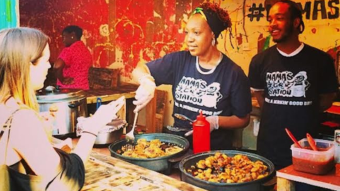 One of the food stands to serve at Model Market Pic @StreetfeastLDN