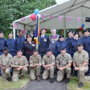 Sir Steve Bullock, Mayor of Lewisham, with members of the armed forces Pic: Gemma Payne