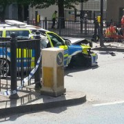 The accident occurred at the junction of Poplar High Street and Cotton Street. Photo: Twitter/@specialist0027
