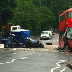 The bus route was a N38 and the crash took place close to the Lee Valley Ice Centre. Photo: London Live