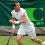 Andy Murray playing at Stoke Park in 2012