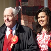 Emily Benn with Grandfather Tony Benn 2010 Pic: Labour