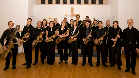 London Saxophone Choir Pic: AEMB Photography