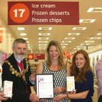 John Coates, Deputy Store Manager of Sainsbury's in Bell Green , Mayor Sir Steve Bullock, Meriel, Lucy and Tony Goldstein, Managing Director, South East Enterprise. Pic: Lewisham Council