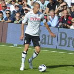 Brede Hangeland playing for Fulham against West Bromwich Albion Pic: Nick Sarebi