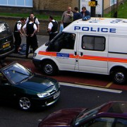 Police raided a Hackney property in the early hours of Wednesday CC Daniel