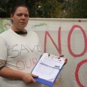 A campaigner against the closure of local nurseries. Photo: Silje Dammen