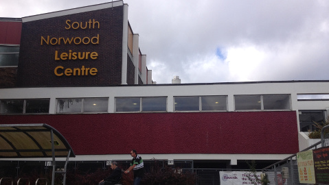 South Norwood Leisure Center, scene of alleged child exocisms. (Photo credit: Michael Ellery)