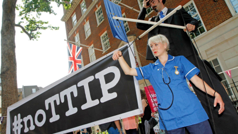 If TTIP is passed, the NHS might suffer. Pic: NoTTIP