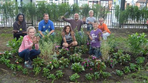 The Peter Pan pocket park community garden. (Picture: Phoenix Community Housing)