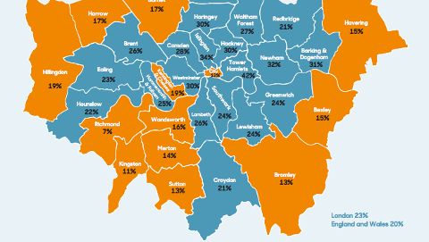 The insufficiency is worse in the borough of Tower Hamlets. Pic: Family and Childcare Trust