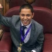 Liam Islam, 14, was elected Young Mayor of Lewisham last night. Pic: Jamie Wright