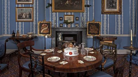 An example of a drawing room in 1830 at Christmas. Pic: Chris Ridley