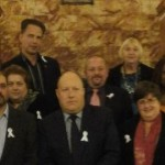Croydon council cabinet members at White Ribbon Launch. Pic: Haley Lewis