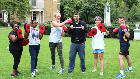 Locals taking part in exercise class. Pic: Hackney Council