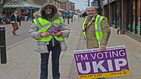 High-Vis UKIP supporters. Pic: Jennifer Jane Mills