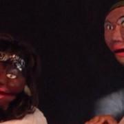 Gender based violence puppets. Pic: Stefan Swift