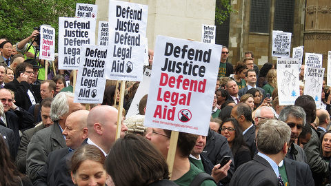 Legal aid cut protest 2013. Pic: Kevin Blowe