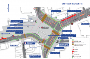 Plans for redevelopment of Old Street. Pic: TfL. Click on the image to expand.