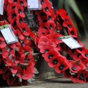 Remembrance Sunday wreaths Pic: David Tett