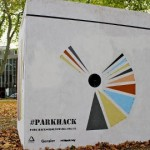 A Park Hack giant white cube. Pic: Hackney council